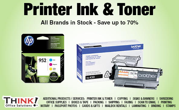 Toner Cartridges inkjet ink cartridge Denver Aurora centennial THINK