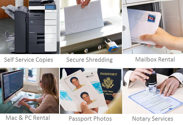 Think Business Centers Fax Copy scan print check email rent mac or pc notary passport photos Denver Aurora Centennial pueblo CO THINK! Office Solutions
