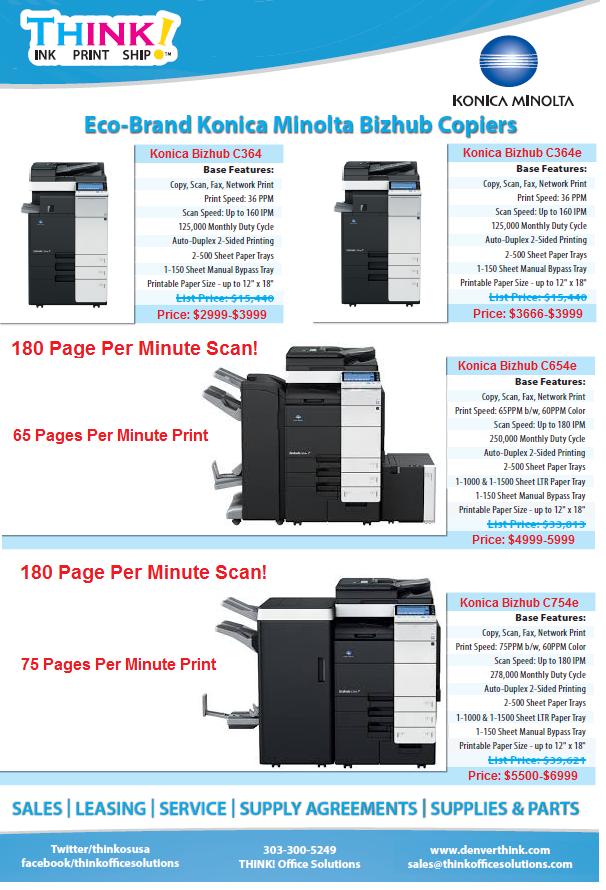 Office Solutions Denver Copier Konica Minolta Bizhub Sales Service Leasing Color MFP
