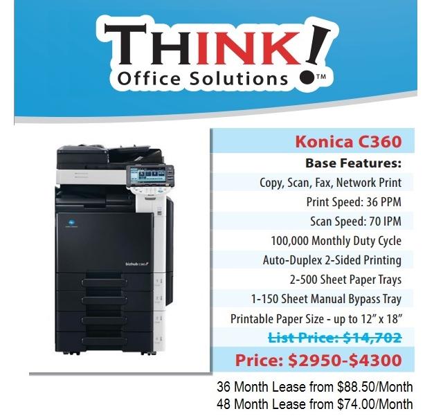 denver konica minolta bizhub c360 copier sales leasing service rh denverthink com Repair Manuals Owner's Manual